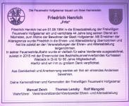 Traueranzeige FFW Fritz Henrich