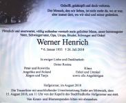 WERNER Henrich HNA Trauer